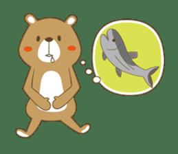 Costume bear and brown bear sticker #394709