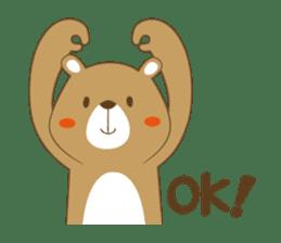 Costume bear and brown bear sticker #394711
