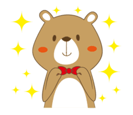 Costume bear and brown bear sticker #394713
