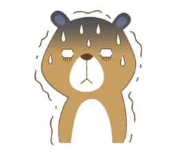 Costume bear and brown bear sticker #394715