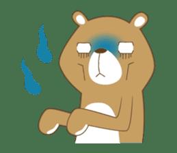 Costume bear and brown bear sticker #394716