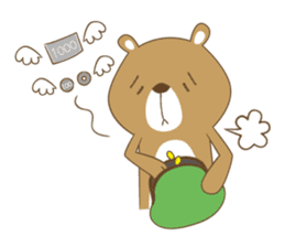 Costume bear and brown bear sticker #394719