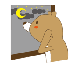 Costume bear and brown bear sticker #394722