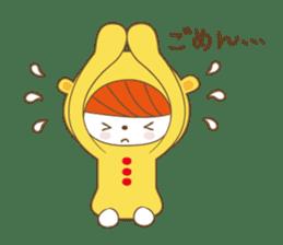 Costume bear and brown bear sticker #394730