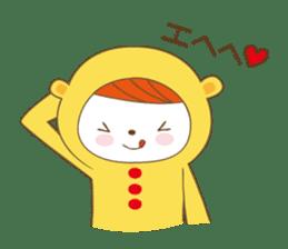 Costume bear and brown bear sticker #394734
