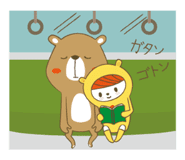 Costume bear and brown bear sticker #394739
