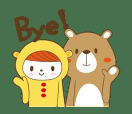 Costume bear and brown bear sticker #394741