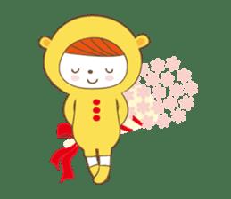 Costume bear and brown bear sticker #394742