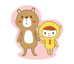 Costume bear and brown bear sticker #394744