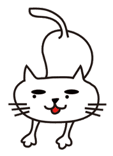 White cat with eyebrows sticker #395187