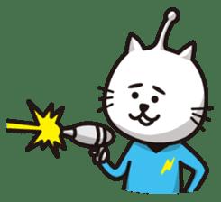 An alien like a cat sticker #395835