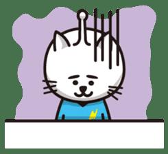 An alien like a cat sticker #395836
