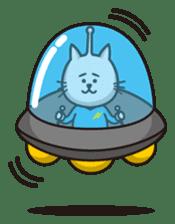 An alien like a cat sticker #395837