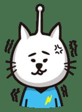 An alien like a cat sticker #395841