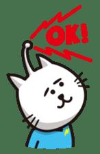 An alien like a cat sticker #395842