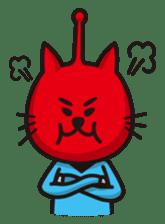 An alien like a cat sticker #395846