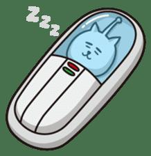 An alien like a cat sticker #395849