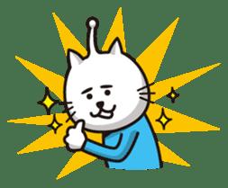 An alien like a cat sticker #395852