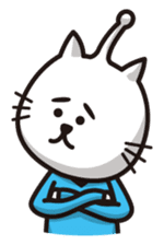 An alien like a cat sticker #395854