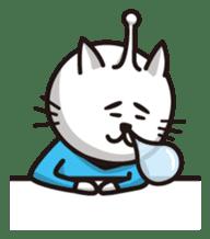 An alien like a cat sticker #395855