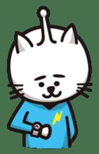 An alien like a cat sticker #395856