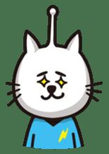 An alien like a cat sticker #395857