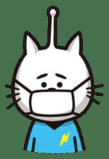 An alien like a cat sticker #395863