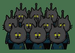 An alien like a cat sticker #395864