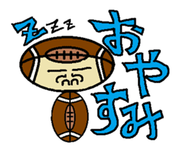 Let's Go ! American football man sticker #396030