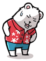 Polar bear's summer vacation sticker #396105