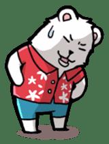 Polar bear's summer vacation sticker #396105