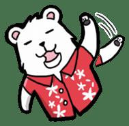 Polar bear's summer vacation sticker #396108