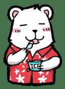 Polar bear's summer vacation sticker #396109