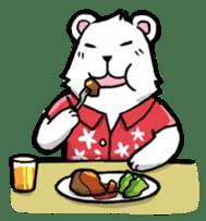 Polar bear's summer vacation sticker #396110