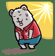 Polar bear's summer vacation sticker #396111