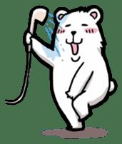 Polar bear's summer vacation sticker #396112