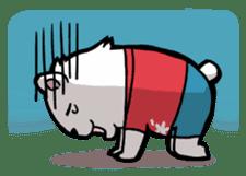 Polar bear's summer vacation sticker #396117