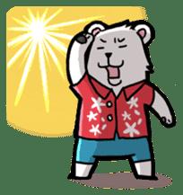Polar bear's summer vacation sticker #396122