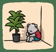 Polar bear's summer vacation sticker #396131
