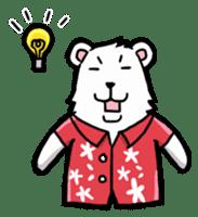 Polar bear's summer vacation sticker #396132