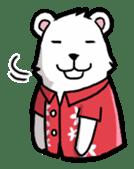 Polar bear's summer vacation sticker #396136