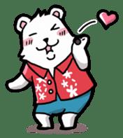 Polar bear's summer vacation sticker #396141