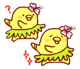 Aloha chick sticker #396266