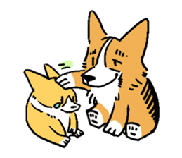 3 Corgi sticker #396449