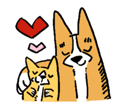 3 Corgi sticker #396463