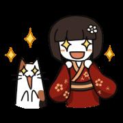 สติ๊กเกอร์ไลน์ Umeko and cat 2