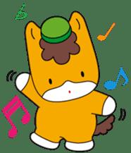 """Japanese Yuruchara""""Gunmachan"""" sticker #398755"""