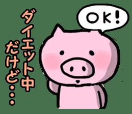 the pig which diets sticker #398969