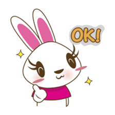 PuPu, the cheerful and sweet bunny sticker #399189