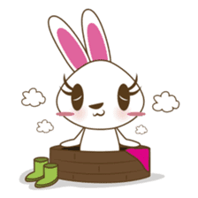 PuPu, the cheerful and sweet bunny sticker #399191